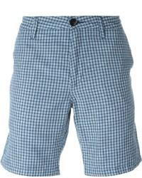 Pantalones Cortos de Tartán Celestes de Paul Smith
