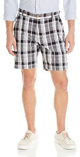 Pantalones cortos de tartán en negro y blanco de Vintage 1946