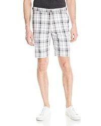 Pantalones cortos de tartán grises de Haggar