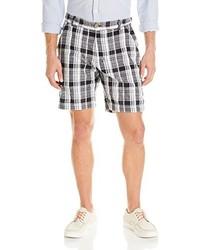 Pantalones Cortos de Tartán Negros y Blancos