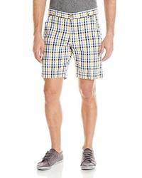 Pantalones Cortos de Tartán Negros y Blancos de Vintage 1946