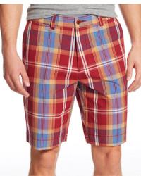 Pantalones cortos de tartán rojos