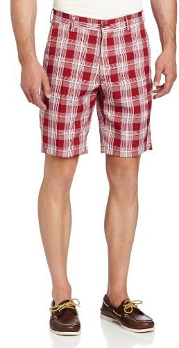 Pantalones cortos de tartán rojos de Haggar