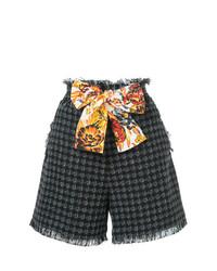 Pantalones cortos de tweed negros de MSGM