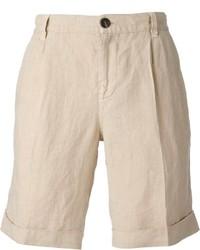 Pantalones cortos en beige de Brunello Cucinelli