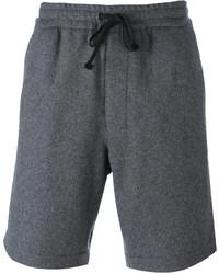 Pantalones cortos en gris oscuro de AMI Alexandre Mattiussi