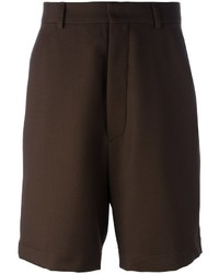Pantalones cortos en marrón oscuro de AMI Alexandre Mattiussi
