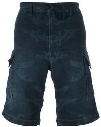 Pantalones cortos estampados azul marino de Diesel