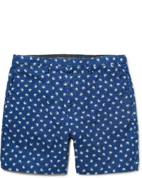 Pantalones cortos estampados azules