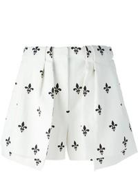 Pantalones Cortos Estampados Blancos y Negros