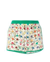 Pantalones Cortos Estampados Blancos y Verdes de RED Valentino