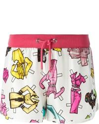 Pantalones cortos estampados blancos de Moschino