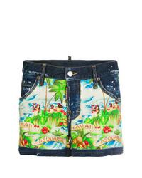 Pantalones cortos estampados en multicolor de Dsquared2