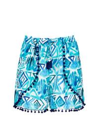 Pantalones cortos estampados en turquesa de BRIGITTE