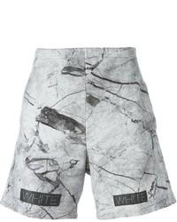 Pantalones cortos estampados grises