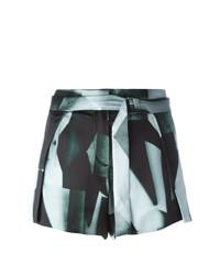 Pantalones cortos estampados negros de Ann Demeulemeester