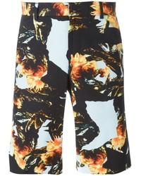 Pantalones cortos estampados negros de Givenchy