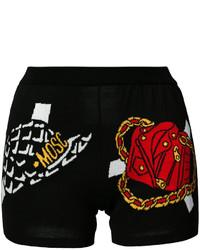 Pantalones cortos estampados negros de Moschino