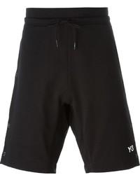 Pantalones cortos estampados negros de Y-3
