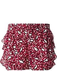 Pantalones cortos estampados rojos de Stella McCartney