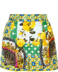 Pantalones cortos estampados verdes