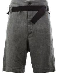 Pantalones Cortos Gris Oscuro de Ann Demeulemeester