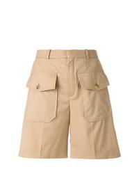 Pantalones cortos marrón claro de Chloé