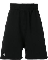 Pantalones cortos negros de Marcelo Burlon County of Milan