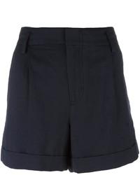 Pantalones cortos plisados azul marino de Vince