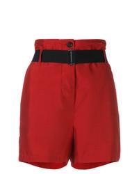 Pantalones cortos rojos de Ann Demeulemeester