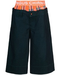 Pantalones cortos vaqueros azul marino de Angus Chiang