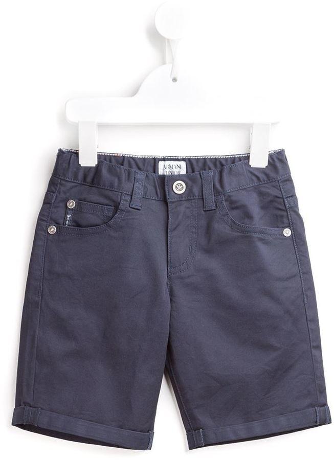 Pantalones cortos vaqueros azul marino de Armani Junior