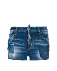 Pantalones cortos vaqueros azul marino de Dsquared2