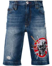 Pantalones cortos vaqueros azul marino de Philipp Plein
