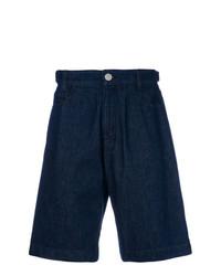 Pantalones cortos vaqueros azul marino de Raf Simons