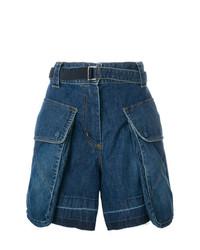 Pantalones cortos vaqueros azul marino de Sacai