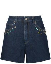 Pantalones Cortos Vaqueros Azul Marino de Sonia Rykiel