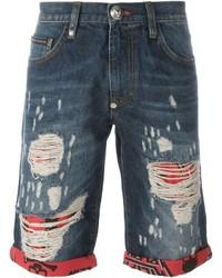 Pantalones cortos vaqueros azules de Philipp Plein