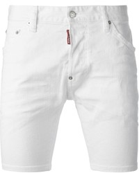 Pantalones Cortos Vaqueros Blancos de DSQUARED2