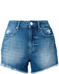 Pantalones cortos vaqueros bordados azules de Zoe Karssen