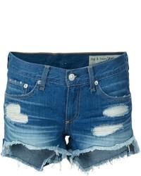 Pantalones cortos vaqueros desgastados azul marino de Rag & Bone