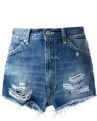Pantalones cortos vaqueros desgastados azules de Dondup