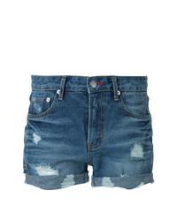 Pantalones cortos vaqueros desgastados azules de GUILD PRIME
