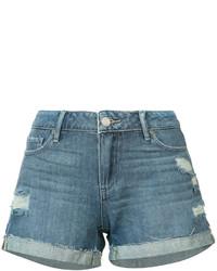Pantalones cortos vaqueros desgastados azules de Paige