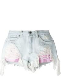 Pantalones cortos vaqueros desgastados celestes de Alexander Wang