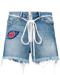 Pantalones Cortos Vaqueros Desgastados Celestes de Off-White