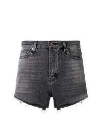 Pantalones cortos vaqueros en gris oscuro de Saint Laurent