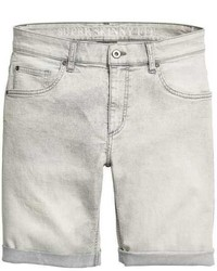 Pantalones cortos vaqueros grises