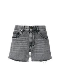 Pantalones cortos vaqueros grises de Saint Laurent