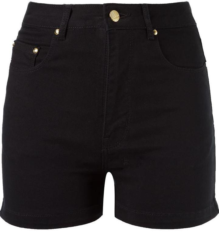 mejor servicio 82f01 2653c Pantalones cortos vaqueros negros